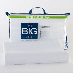 The Big One Gel Memory Foam Contour Pillow for $13