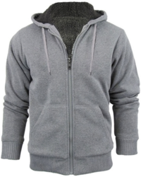 Men's Heavy Sherpa-Lined Zip-Up Hoodie for $19