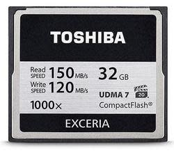 Toshiba 32GB 1,000x CompactFlash Memory Card $17
