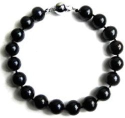 10mm Black Freshwater Pearl Bracelet for $14