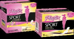 Playtex Sport Pads, Liners, & Combos Sample free