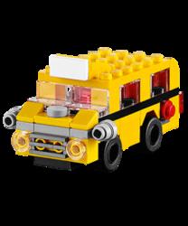 LEGO School Bus Mini Model Build for free