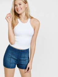 Express Women's Pin-Up Denim Shorts for $21